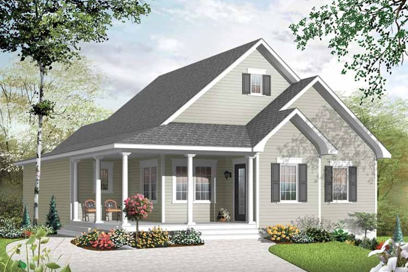 Country Exterior - Front Elevation Plan #23-2517