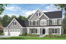 Colonial Exterior - Front Elevation Plan #1010-59