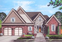 House Plan Design - Cottage Exterior - Front Elevation Plan #46-865