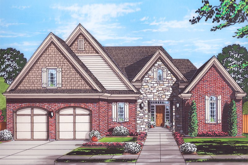 Cottage Exterior - Front Elevation Plan #46-865