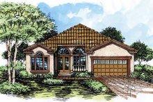 House Plan Design - Mediterranean Exterior - Front Elevation Plan #320-520
