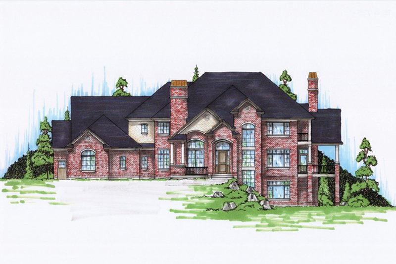 House Plan Design - Traditional Exterior - Front Elevation Plan #945-136