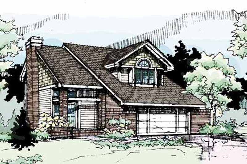 Contemporary Exterior - Front Elevation Plan #320-683