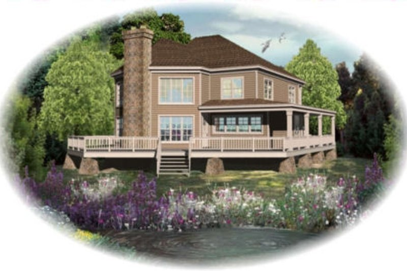 Traditional Style House Plan - 3 Beds 2.5 Baths 2827 Sq/Ft Plan #81-13758 Exterior - Front Elevation