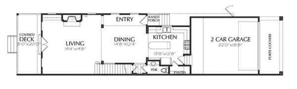 Traditional Floor Plan - Main Floor Plan Plan #1021-19