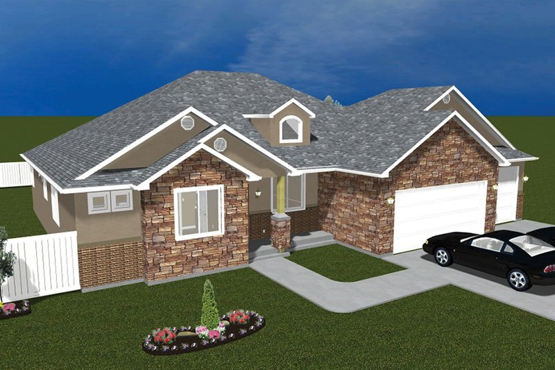 Ranch Exterior - Front Elevation Plan #1060-30 - Houseplans.com