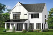 Farmhouse Style House Plan - 4 Beds 3.5 Baths 2982 Sq/Ft Plan #1057-15 Exterior - Rear Elevation