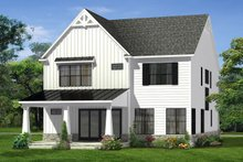 House Plan Design - Farmhouse Exterior - Rear Elevation Plan #1057-15