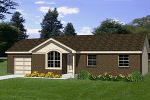 Ranch Exterior - Front Elevation Plan #116-160