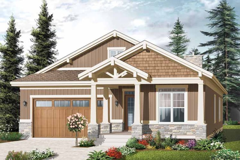 Traditional Exterior - Front Elevation Plan #23-2531 - Houseplans.com