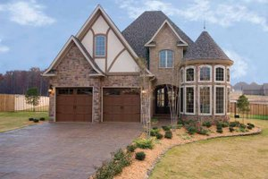 Dream House Plan - European Exterior - Front Elevation Plan #17-3284