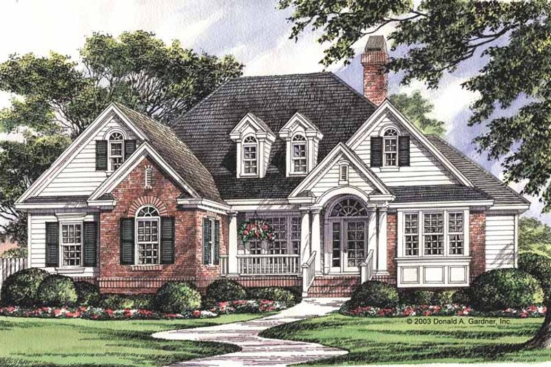 Traditional Exterior - Front Elevation Plan #929-708 - Houseplans.com
