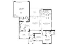 Ranch Floor Plan - Main Floor Plan Plan #1061-22