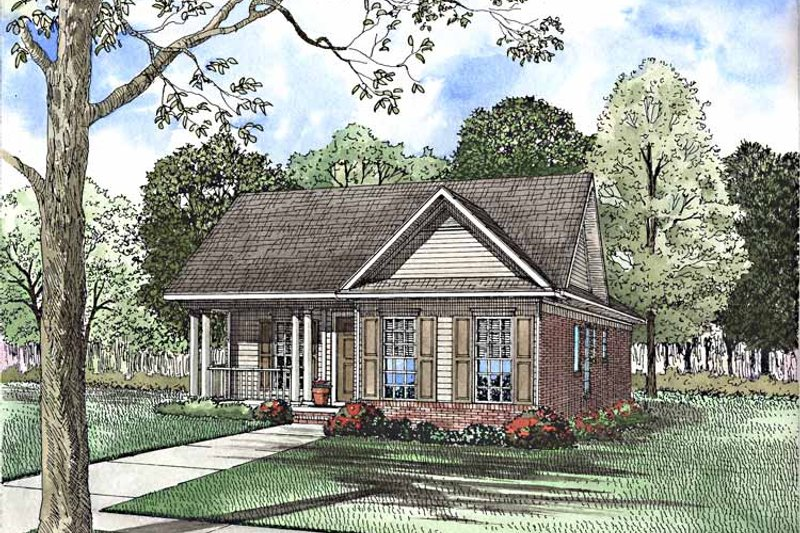 Architectural House Design - Country Exterior - Front Elevation Plan #17-3209