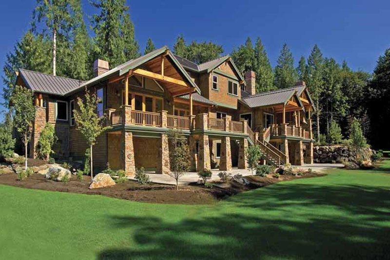 House Plan Design - Contemporary Exterior - Rear Elevation Plan #951-2