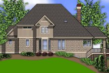 Dream House Plan - Traditional Exterior - Rear Elevation Plan #48-893