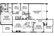 Country Style House Plan - 3 Beds 2 Baths 1800 Sq/Ft Plan #1058-135 Floor Plan - Main Floor Plan