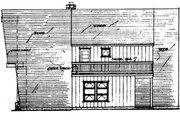 House Plan - 3 Beds 2 Baths 1742 Sq/Ft Plan #315-117 Exterior - Rear Elevation