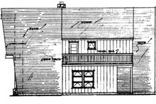Exterior - Rear Elevation Plan #315-117