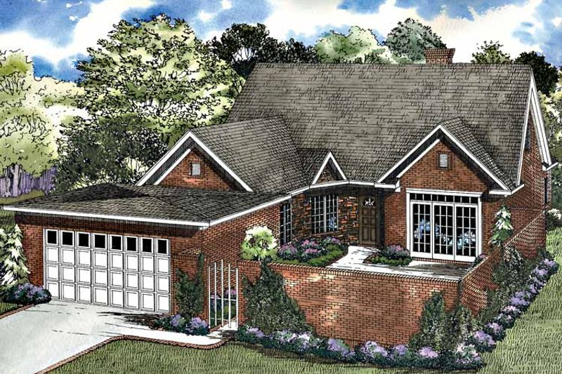 Traditional Exterior - Front Elevation Plan #17-3174 - Houseplans.com