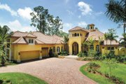 Mediterranean Style House Plan - 3 Beds 4.5 Baths 5199 Sq/Ft Plan #930-314 Exterior - Front Elevation