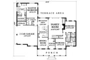 Southern Style House Plan - 3 Beds 3 Baths 2215 Sq/Ft Plan #137-176 Floor Plan - Main Floor
