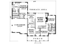 Southern Floor Plan - Main Floor Plan Plan #137-176
