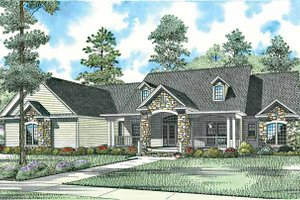 House Plan Design - Craftsman Exterior - Front Elevation Plan #17-2771