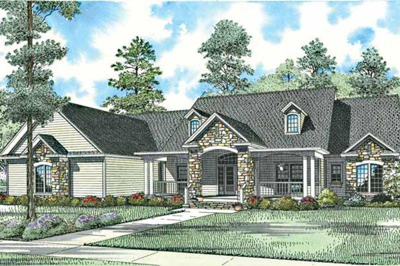 Dream House Plan - Craftsman Exterior - Front Elevation Plan #17-2771