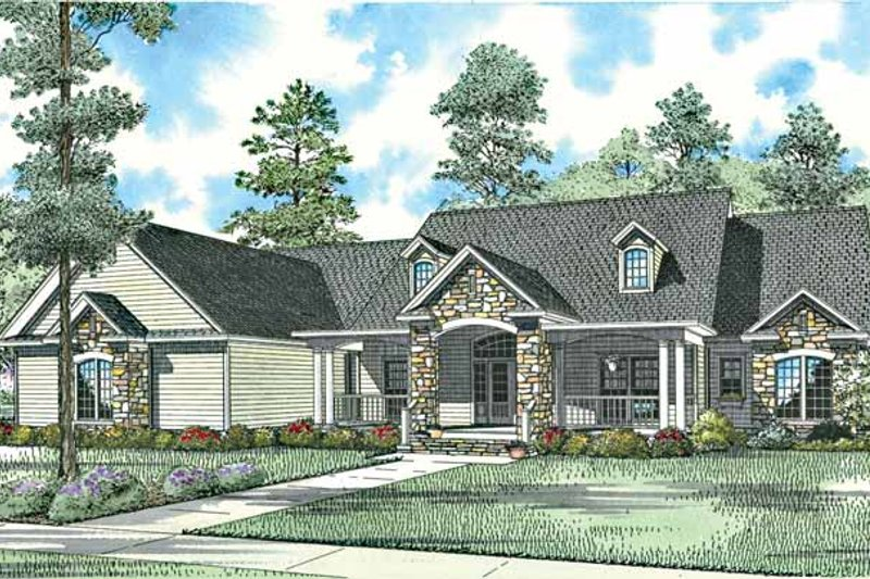 House Plan Design - Craftsman Exterior - Front Elevation Plan #17-2771