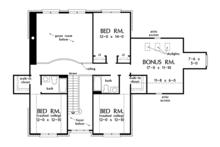 Traditional Floor Plan - Upper Floor Plan Plan #929-1017