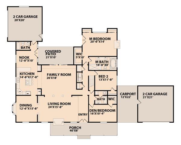 Ranch Floor Plan - Main Floor Plan Plan #515-17