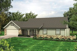 Ranch Exterior - Front Elevation Plan #57-294