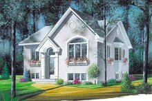 Home Plan - European Exterior - Front Elevation Plan #23-1014