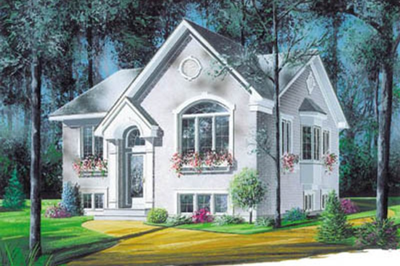 European Exterior - Front Elevation Plan #23-1014