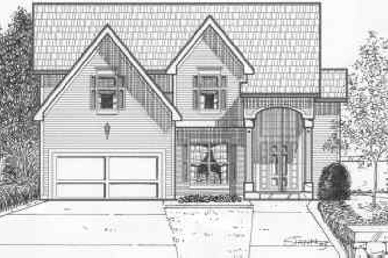 Traditional Style House Plan - 4 Beds 3.5 Baths 2156 Sq/Ft Plan #6-116