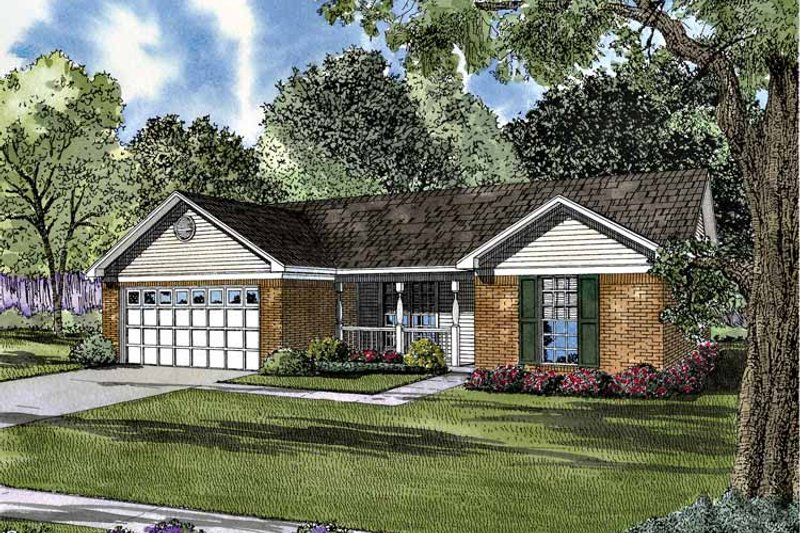 Country Exterior - Front Elevation Plan #17-3021 - Houseplans.com