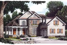 Country Exterior - Front Elevation Plan #927-660