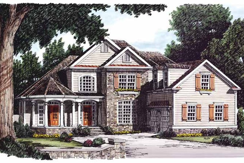 Country Exterior - Front Elevation Plan #927-660 - Houseplans.com