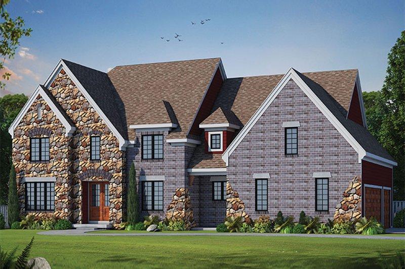 House Plan Design - European Exterior - Front Elevation Plan #20-2247