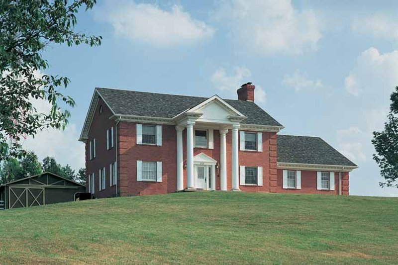 House Blueprint - Classical Exterior - Front Elevation Plan #72-613