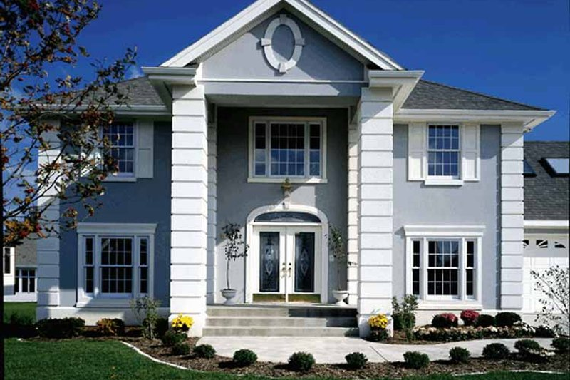 Classical Exterior - Front Elevation Plan #320-509 - Houseplans.com