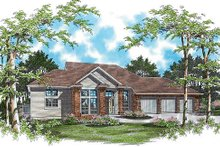 Home Plan - Traditional Exterior - Front Elevation Plan #48-419