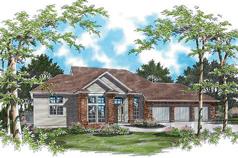 Traditional Exterior - Front Elevation Plan #48-419