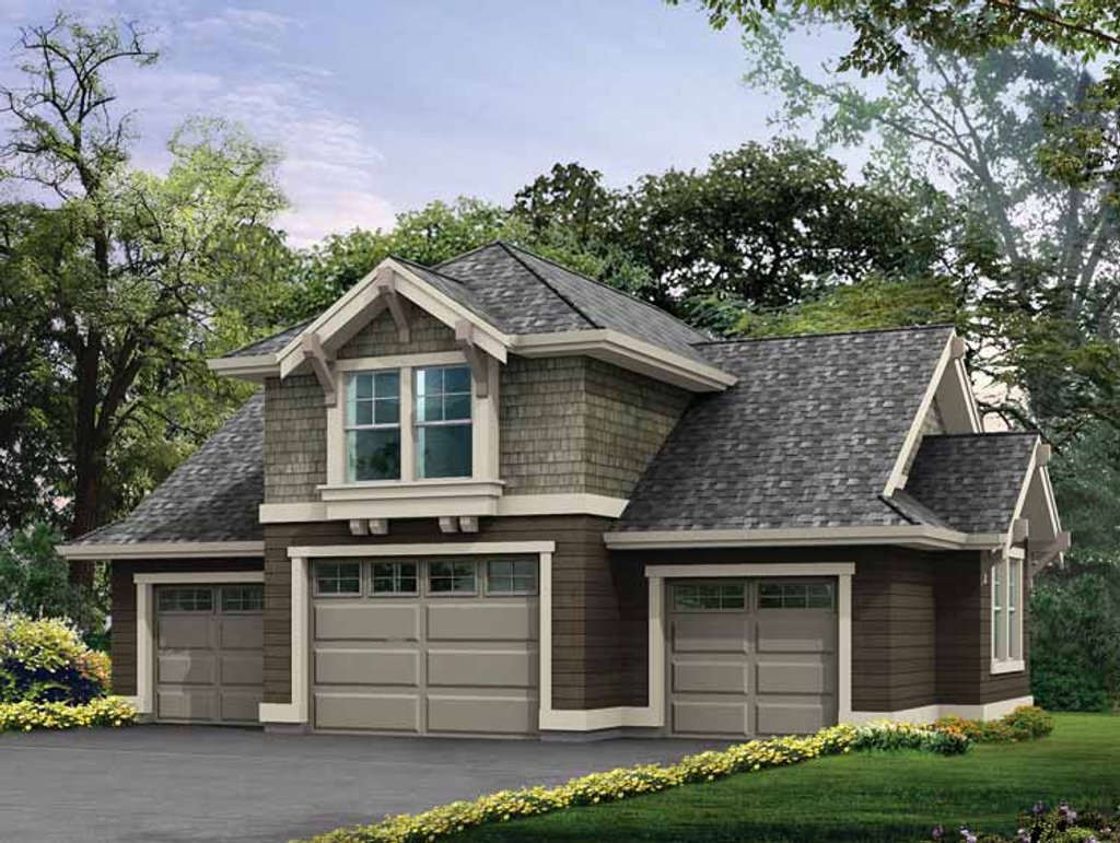 Craftsman style house plan 0 beds 0 baths 760 sq ft plan for Www eplans com