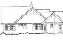 Craftsman Exterior - Rear Elevation Plan #942-17