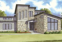 Home Plan - Contemporary Exterior - Front Elevation Plan #17-3384