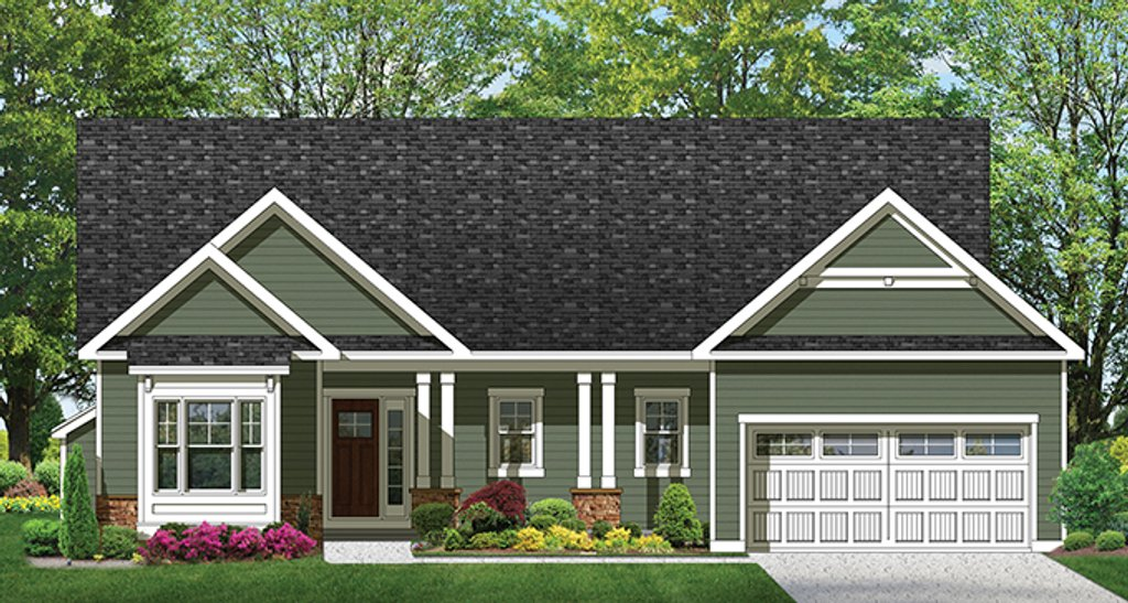 Ranch style house plan 3 beds 2 baths 1601 sq ft plan for Weinmaster house plans