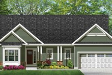 Ranch Exterior - Front Elevation Plan #1010-98