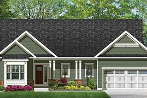 House Plan Design - Ranch Exterior - Front Elevation Plan #1010-98